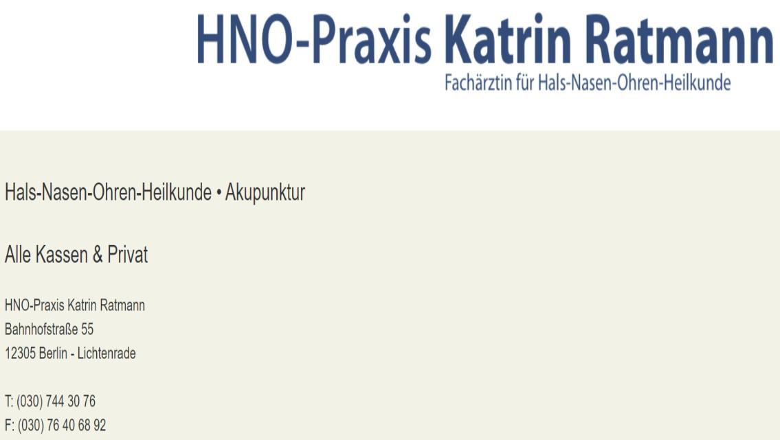 이민자 이비인후과(Katrin Ratmann)